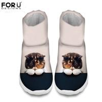 FORUDESIGNS mujeres la Moda de Invierno Botas de Nieve Lindo 3D Animal Gato Impresiones del perro Caliente Botines para Mujer de Plataforma Femenina zapatos de La Lluvia de arranque