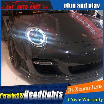 car styling LED Head Lamp for Porsche 997 series led headlights for 997 head light drl H7 hid Bi-Xenon Lens angel eye low beam