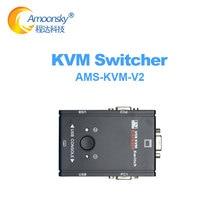 KVM-V2 USB KVM Switch Switcher 2 Port VGA SVGA Switch Box USB 2.0 Mouse Keyboard 1920*1440 Switch