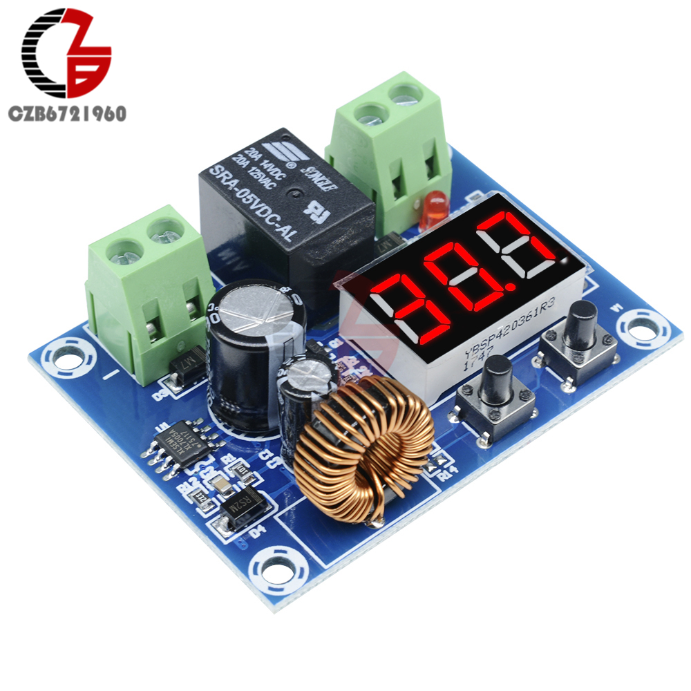 XH-M609 DC 12V 24V Voltage Charge Discharge Protection Board LED Digital Low Under Over Voltage Protect For Lithium Battery