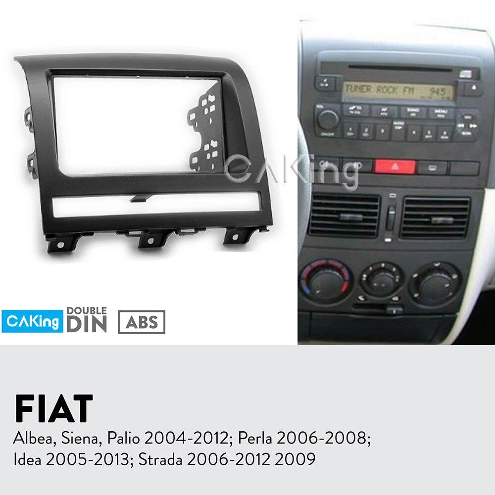 Para fiat idea tipo 350 auto radio diafragma montaje instalación marco 2-din gris