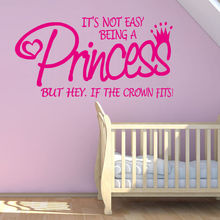 Wall Decal Girls Princess Quote Removable Bedroom Decorations For Room Sticker Decor YO-166