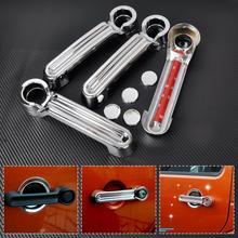 CITALL 4pcs New ABS Plastic Chrome Door Handle Cover Trim For JEEP Wrangler JK Liberty Dodge 2007 2008 2009 2010 2011 2012-2015
