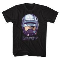 ROBOCOP 90S CHROME BLACK Men S Adult Short Sleeve T Shirt