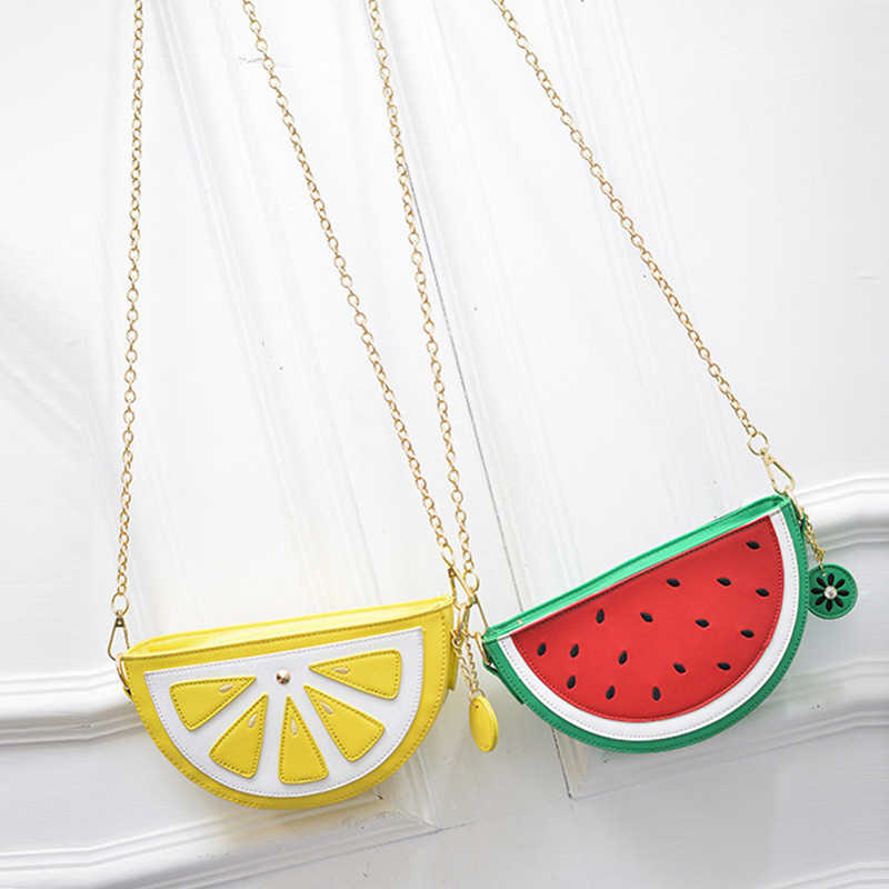 Watermelon Orange Shaped Bag Evening Clutch Bag Fruit Chain Messenger Small Crossbody Bags For Women Purses  Best Sale-WT