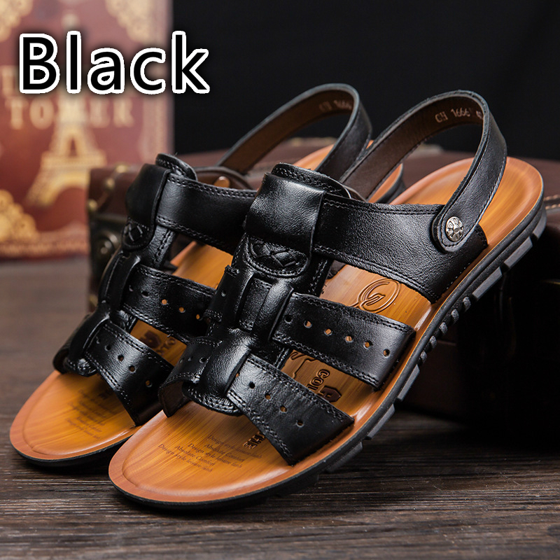 Stylish and Comfortable Leather Father Beach Shoes Leather Casual Men s Sandals Men Shoes Sandals