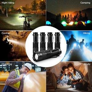 Image 5 - Mini lampe de poche Portable lampe de poche LED Q5 LED étanche lm, 5 couleurs, 1 mode, zoom, torche LED, AA 14500