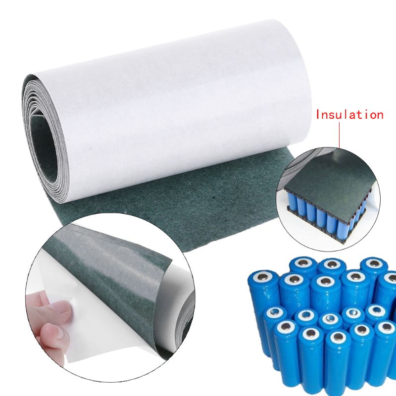 1pc New For 18650 Battery Insulation Gasket Barley Paper 63MM (1 Meter)  Lithium Ion Battery Insulation Glue Patch