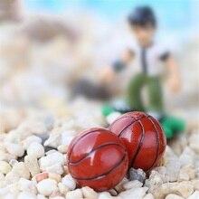 3 шт./компл. мини-футбол/Баскетбол 1.6 см смолы ремесла kids'toy Micro озеленение украшения дома DIY Аксессуары подарок
