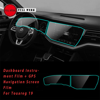 Car Dashboard Instrument Film GPS Navigation Screen Protector Sticker Cover for Volkswagen Touareg 19 Interior Accessories image