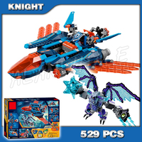 529pcs New Knights Clay's Falcon Fighter Blaster 10596 DIY Model Building Blocks Kit Toys Nexus Compatible with Lego