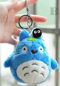 Image 3 - Mini 10cm Totoro Plush Toy kawaii Anime Totoro Keychain Toy Stuffed Plush Pendant Totoro Dolls