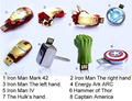 Real capacity Avengers Iron Man Metal usb flash drive 4GB 8GB 16GB 32GB USB 2.0 Flash Memory Stick Drive pen drive