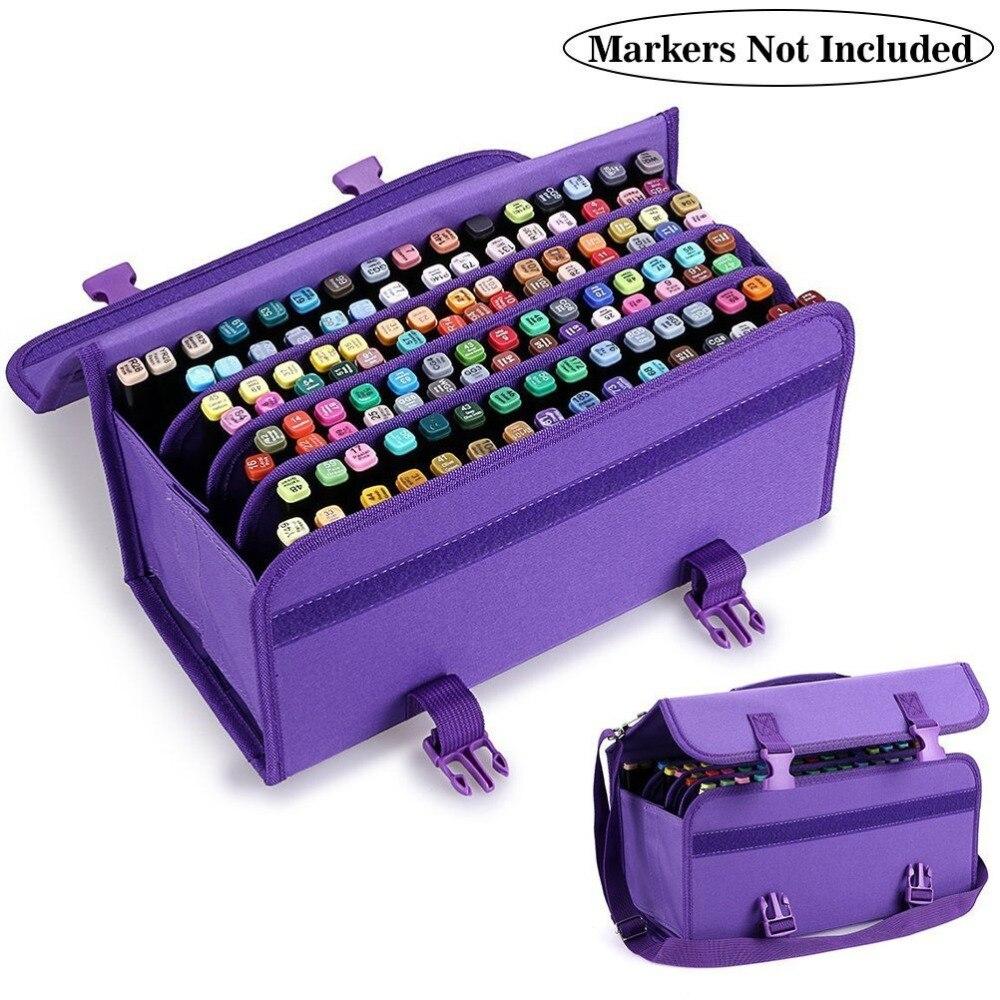 120 Holes Folding School Pencil Case Sketch Drawing Painting Pen Bag Portable Pencilcase Storage Box Stationery Estojo Escolar