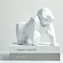 Orangutan Resin Sculpture Model Office Bar White Orangutan Crafts Ornaments Animal Origami Abstract Geometric Statues Decoration zimber zm 10857 white green