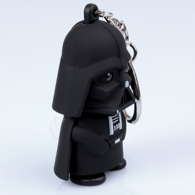 Star Wars Black Knight Darth Vader Stormtrooper Led Light With Sound Pvc Action Figures Toy Children Kids Gifts Anakin Skywalker #3