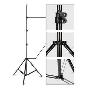 Image 4 - Background Stand Support System 2.6M x 3M/8.5ft x 10ft Kit with Carrying Case for Muslins Backdrops,Paper and Canvas