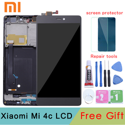 Xiaomi Mi4c LCD Display+Touch Screen New Digitizer Glass Panel Assembly Screen For Xiaomi Mi 4C With Frame