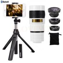 Best Buy New Camera lens Kit 8X Zoom Lens Telescope Telephoto Lenses Fisheye Wide Angle Macro Lentes For iphone 4 4s 5 5s 5c SE 6 6s 7 8
