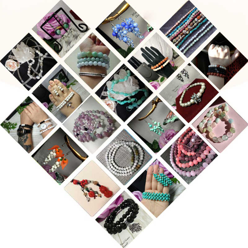4-12 Mm AAA Biru Tua Kucing Mata Mata Berkualitas Tinggi Halus Bulat Longgar Beads untuk Perhiasan Membuat Opal batu DIY Pesona Gelang 15