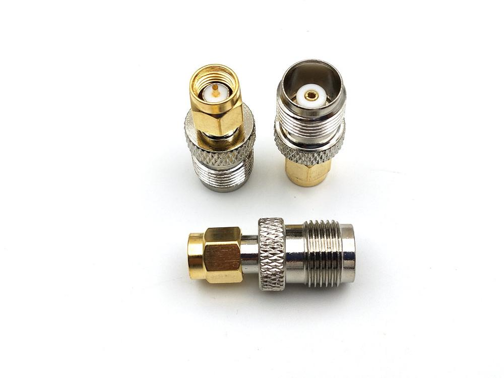 50pcs copper RP TNC Female Plug to RP SMA Male Jack Center RF Coaxial connector