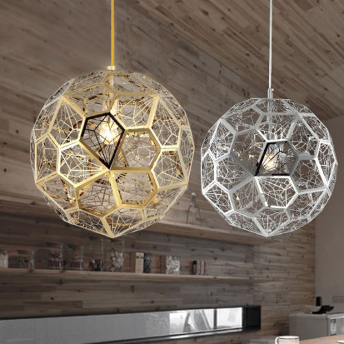 Post Modern Hollowed Stainless Steel Globe Pendant Light Fixture Chrome/Gold Color E27 Bulb Lamp AC 110-240V zg9048 pendant light ac 110 240v