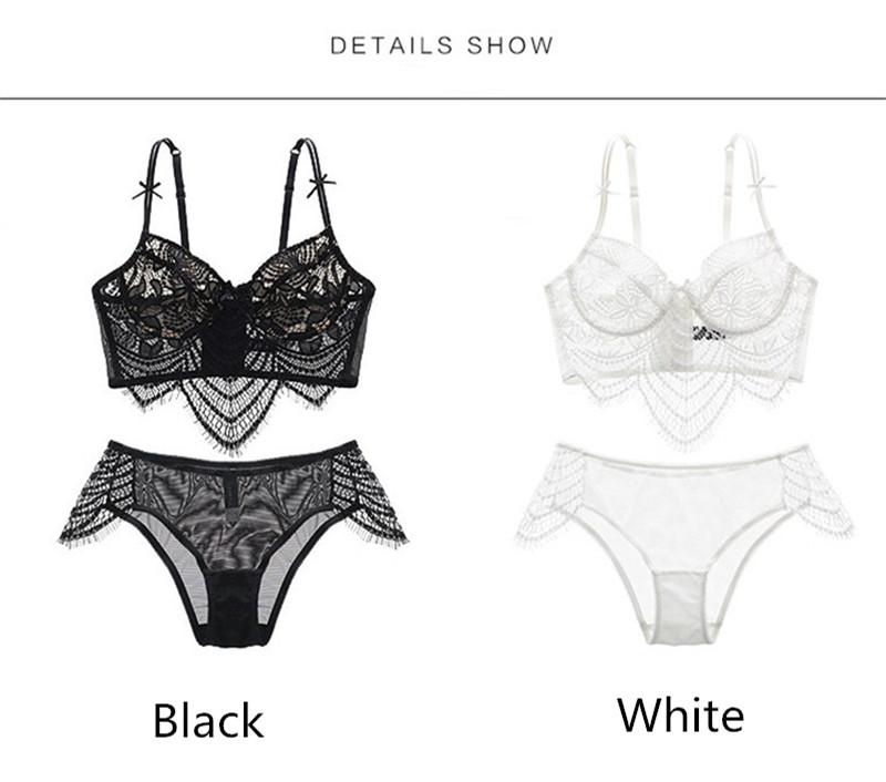 13dfac2b83 Wholesale-Women Sexy Underwear Embroidery Sexy Lace Bra Transparent ...