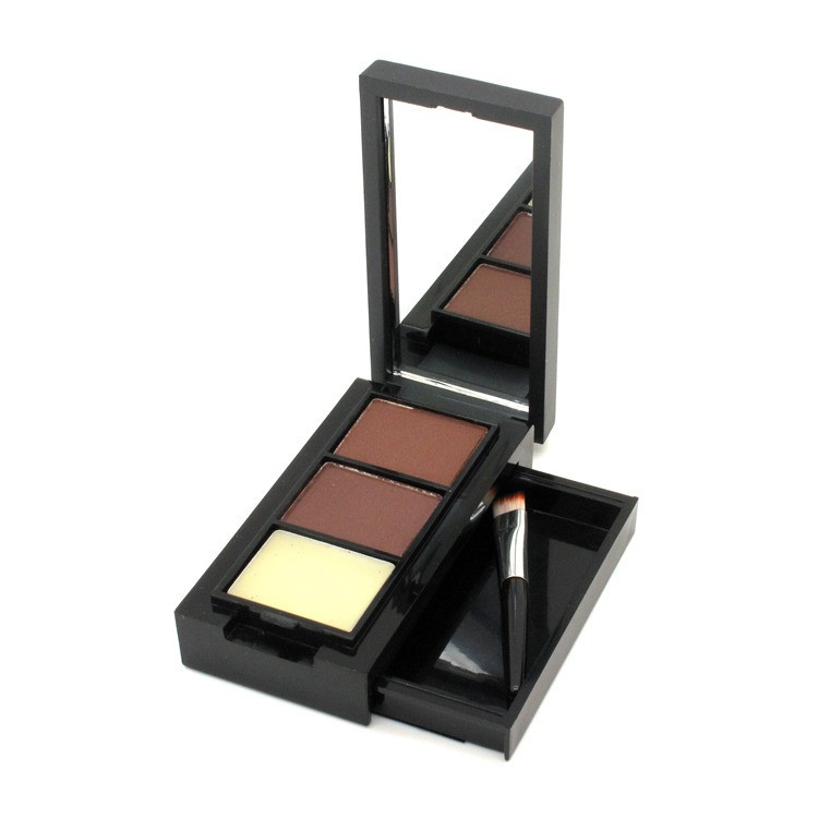 Hot Sale Professional Eye Shadow Eye Brow Makeup 2 Color Eyebrow Powder + Eyebrow Wax Palette + Brush + English Instruction 4