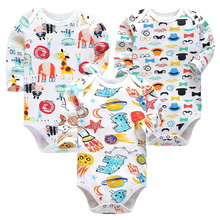 Infant Boys Clothes Newborn Toddler Babies 3-24 Months Long Sleeve Bodysuit Baby Girls Clothing 3 Pack