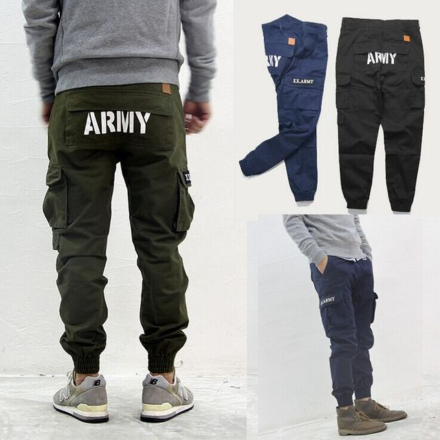 2015 Men's Casual Army Jogger Pants Men Hip Hop Harem Trousers Brand Man Pantalones Homme Joggers Trousers Clothing