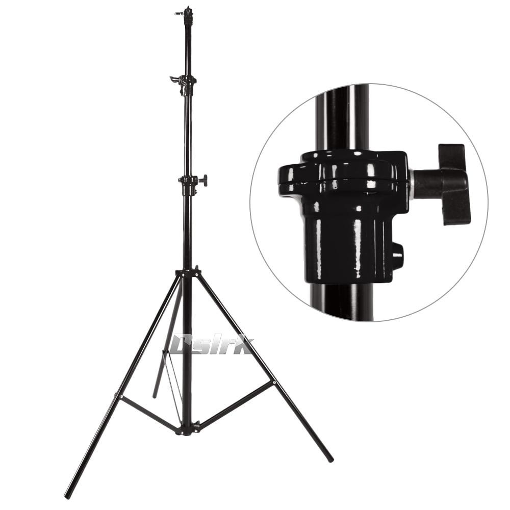 ASHANKS Air Cushion Light Stand Aluminum 3m Foldable Tripod Potable Lamp Stand 10KG Loading Fotografia Kits for studio Light kupo aluminum studio stand 360m