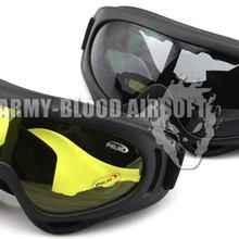 X400 тактические очки черный/желтый
