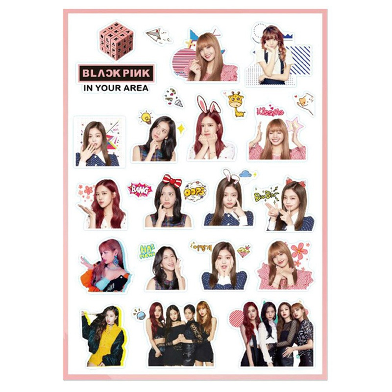 US $0 99 15% OFF|Kpop Blackpink IN YOUR AREA DIY Stickers Cute Bubble  Sticker For Mobile Phone Laptop Blackpink Decorative Stickers-in Stationery