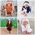 Crianças Crianças Robes Roupões Sleepwear Criança Sleepwear Robe Camisola de Lã de Microfibra Macia Spa Desgaste desgaste Salão Pai-Filho