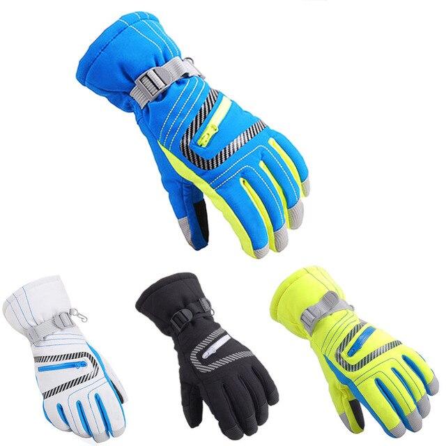 2018 Unisex Waterproof Ski Gloves Men Women Warm Skiing Snowboard Gloves  Snowmobile Motorcycle Riding Winter Snow Glove Mitten c3fb504f136f