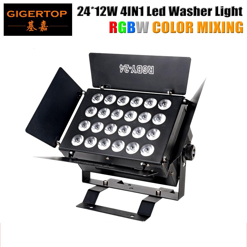 Freeshipping TP W2412 Barndoor Led Walll Washer Light 24 12W Tyanshine LED RGBW 4IN1 40 Degree