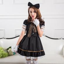 A juego completo de princesa falda traje de mucama cosplay uniforme anime japonés cafe diario lolita