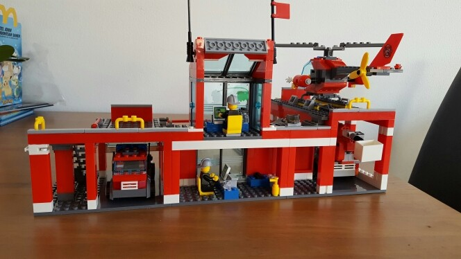 City Fire Station Building Blocks DIY