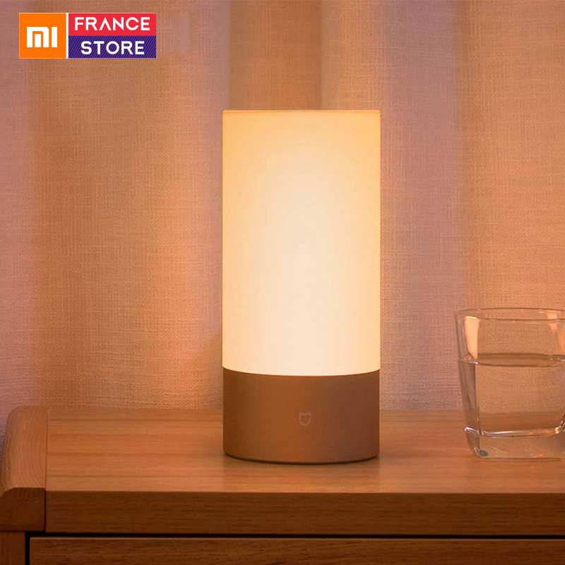 English Version Xiaomi Mijia Bedside Lamp Yeelight Led Light Smart Indoor Night Remote Touch Control