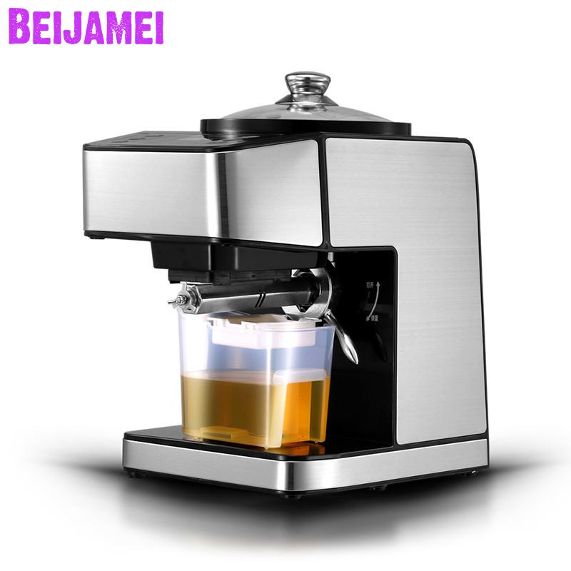 BEIJAMEI Electric Small oil Extractor Automatic Hot Cold Fried Oil press machine commercial peanut oil press maker machine