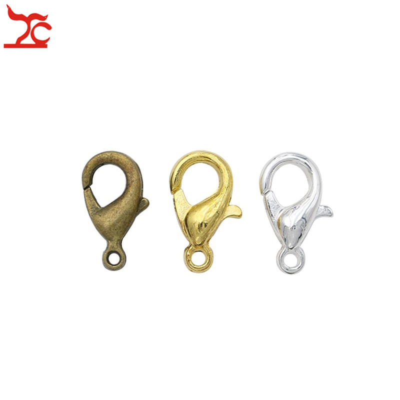 500 Lobster Clasps 12x6mm Jewelry Findings Claw Connector Gold