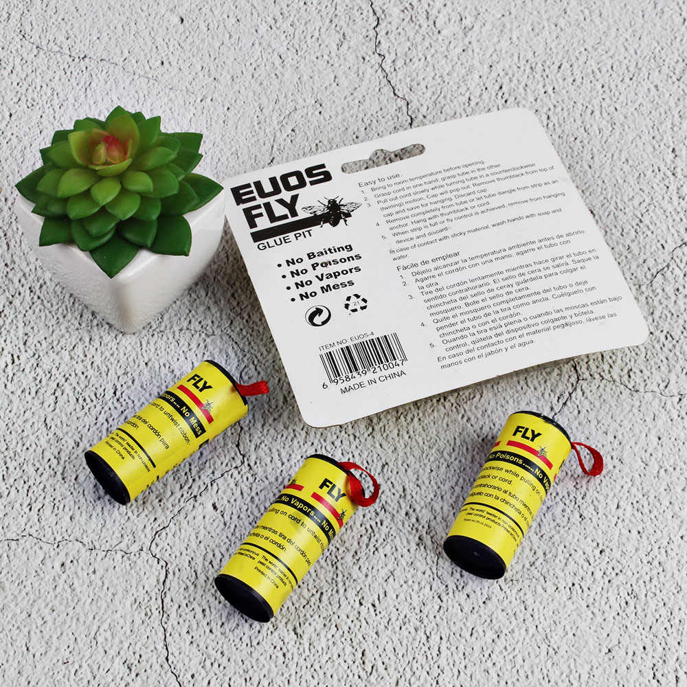 Strip Trap New Insect Bug Fly Glue Paper Catcher Trap Ribbon Strip Fies Sticky Safe Tools