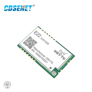 SX1262 LoRa 230MHz 30dBm SMD Wireless Transceiver E22-230T30S IPEX Stamp Hole 1W Long Distance TCXO Transmitter and Receiver cdebyte e22 900m30s sx1262 30dbm 915mhz smd wireless transmitter receiver stamp hole ipex antenna spi long range rf module