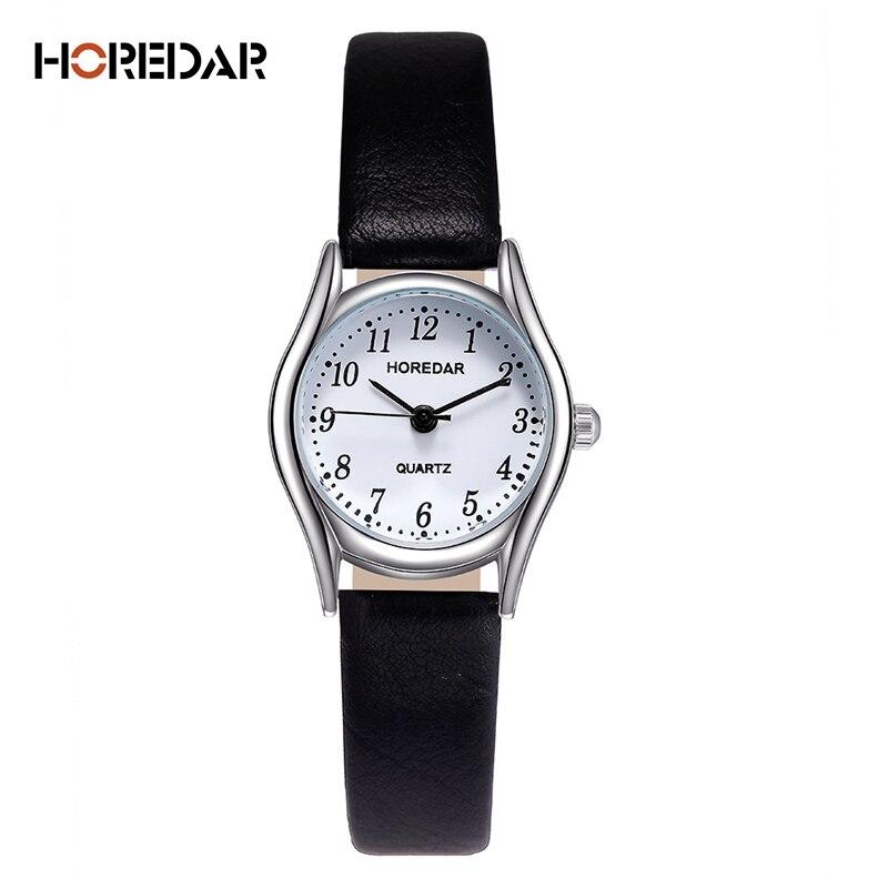 HOREDAR Fashion Watches Women Retro Small Dial Roma Scale Casual Watch High Quality Women Quartz Wristwatch female clock 1