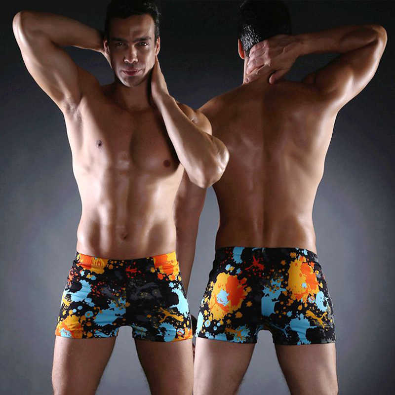 Man Swimsuits Swim Shorts Sports Suits Surf Board Shorts Trunks Men Swim Suits Summer Printed flat swim trunks Beach Shorts