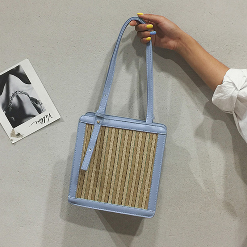 YABEISHINI Summer Beach Bag Big Straw Bags Women Splice Fashion Handbag Cute Girl Shoulder Messenger Bag Designer Shopping Bags