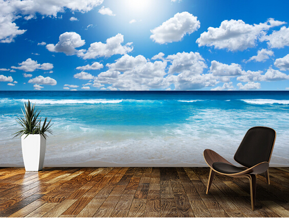 Custom landscape wallpaper,Ocean Skies,3D natural photo murals for living room bedroom kitchen background wall vinyl wallpaper custom 3d wallpaper wood block photo wallpaper natural trees wall murals art living room decor bedroom office home decoration