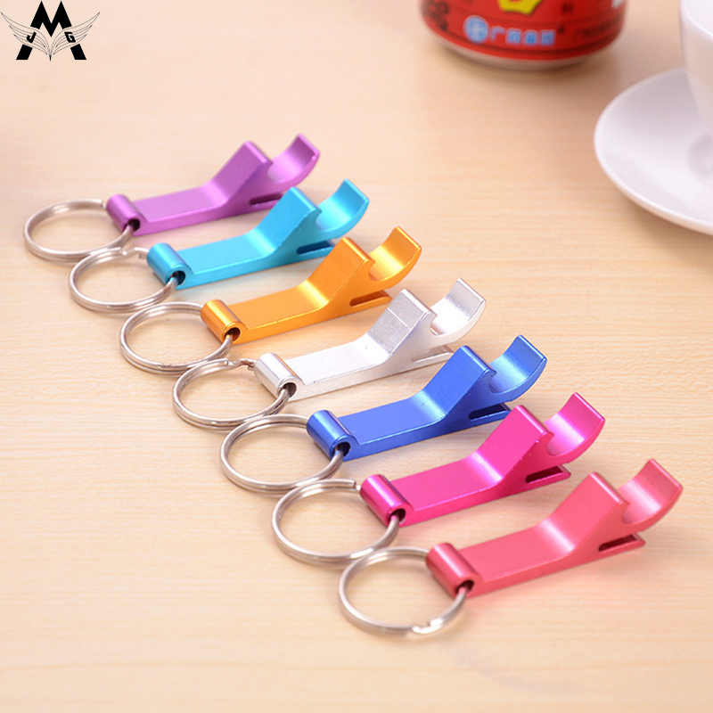 MeiJiaG Portable Bottle Opener Key Ring Chain Key-ring Key-chain Metal Beer Bar Tool Claw Gift Unique Creative Gift 7 Colors