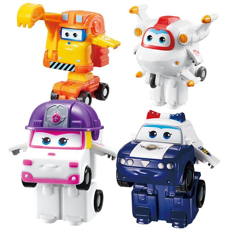 купить 2018 Newest Mini Super Wings Deformation Mini Airplane ABS Robot toy Action Figures Super Wing ZOEY/SCOOP Transformation toys по цене 543.3 рублей