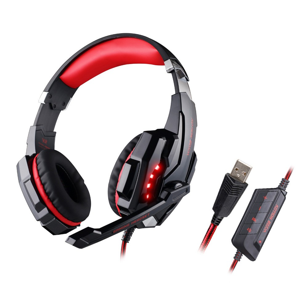 ФОТО KOTION EACH G9000 Gaming Headset 7.1 Surround Sound USB Casque Gamer 7.1 Earphone Headphones with Microphone For Computer Laptop